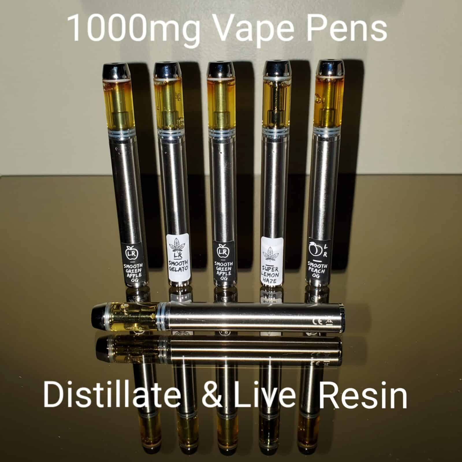 Live Resin and Distillate Vape Pen by vvs delivery dispensary GTA mississauga kitchener cambridge